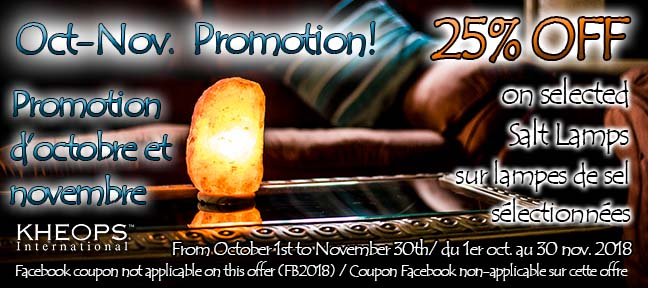 October Promotion / Promotion d'Octobre !